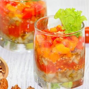 Масло оливковое - Овощные веррины с грецкими орехами Полосатики