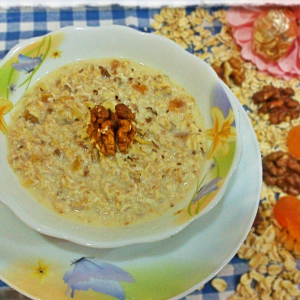 Рецепты гарниров - Овсяная каша Источник здоровья