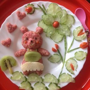Киви - Овсяная каша Розовый мишка