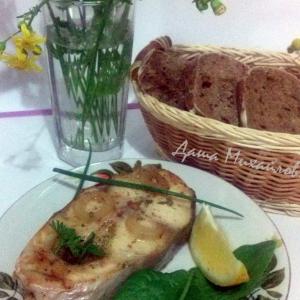Лук-шалот - Пангасиус запеченный