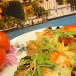 Рецепты пасты - Паста запечённая с шампиньонами