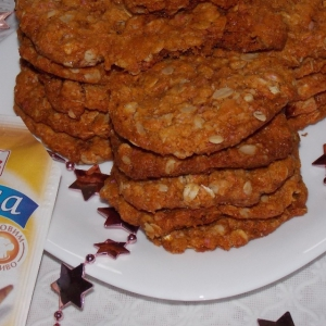 Кокос - Печенье Анзак с корицей