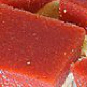 Клубника - Печенье Клубничные квадратики