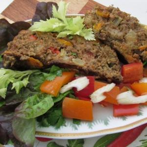 Хлеб - Печеночный паштет, запеченный с овощами