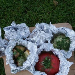 Кабачок - Печёные овощи