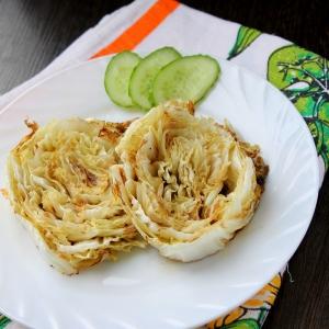 Вегетарианская кухня - Пекинская капуста, запеченная в духовке
