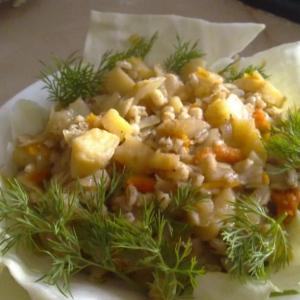 Овощные гарниры - Перловая каша с овощами