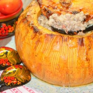 Тыква - Перловка с мясом Огородная царица