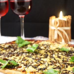 Колбаса - Пицца с диким рисом