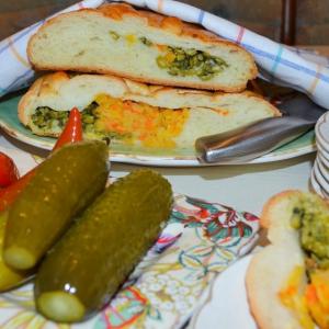 Рецепты славянской кухни - Пирог-кулебяка с горохом Боб