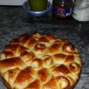 Простокваша - Пирог Розочка с творогом или козьим сыром