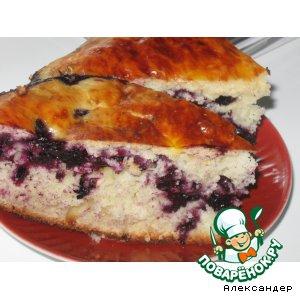 Черника - Пирог с черникой