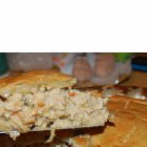 Апельсиновая корка сушеная (апельсиновая цедра) - Пирог с индейкой и сыром Кураж