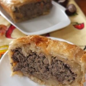 Кабачок - Пирог с паштетной начинкой