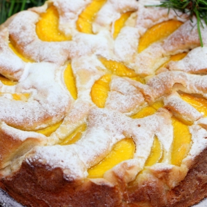 Персик - Пирог с персиками Атласный