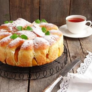 Персик - Пирог с персиками