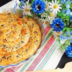 Пармезан - Пирог с рисом, луком-пореем и пармезаном
