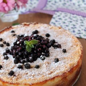Черника - Пирог с творогом и черничным джемом