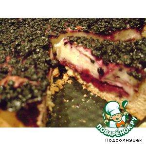 Черника - Пирог с творогом и черникой Искушение