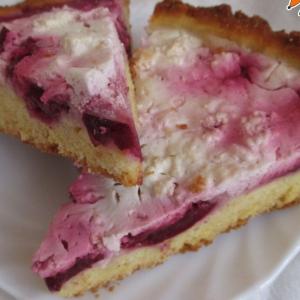 Слива - Пирог творожный со сливой