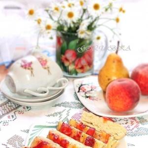 Персик - Пироги с персиком в микроволновке