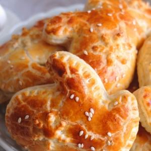 Тесто - Пирожки Рукавички с курицей и рисом