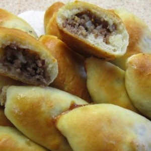 Рецепты выпечки - Пирожки с мясной начинкой