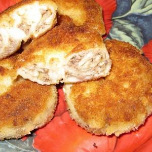 Рецепты польской кухни - Пирожки Улитки с мясом в блинном тесте