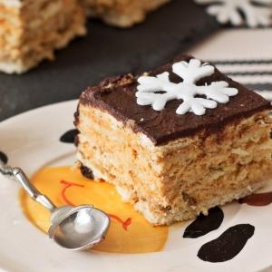 Мандарин - Пирожное без выпечки Сливочно-карамельное