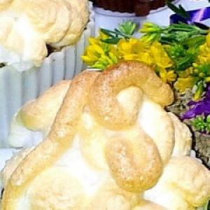 Слива - Пирожное со сливой и вишней