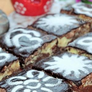 Масло сливочное - Пирожные с творожно-шоколадным кремом в СВЧ