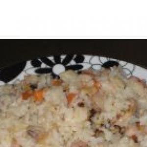 Устрица - Плов из морепродуктов