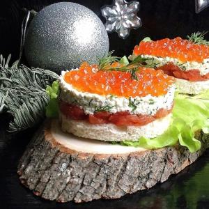 Хлеб - Порционные бутерброды Рождественский вечер