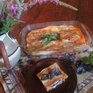 Баклажан - Постная лазанья с баклажанами