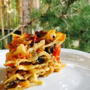 Рецепты итальянской кухни - Постная лазанья с кальмарами
