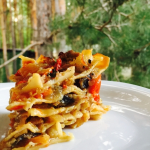 Овощные рецепты - Постная лазанья с кальмарами