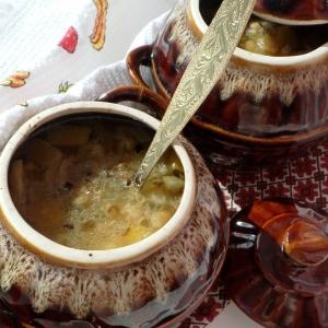 Фенхель - Постный фасолево-рисовый супчик в горшочке