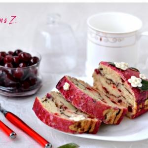 Вишня - Постный кекс с вяленой вишней