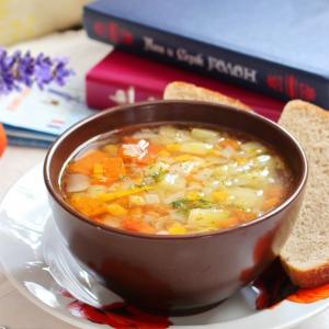 Чечевица - Провансальский суп из чечевицы и кабачка