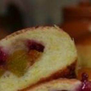 Шафран - Пряные булочки с тыквой и клюквенным соусом