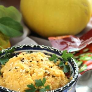 Рецепты гарниров - Пюре из тыквы с нутом