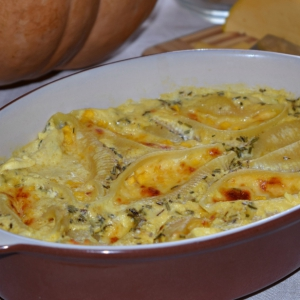 Розмарин - Ракушки, запеченные с тыквой и сыром