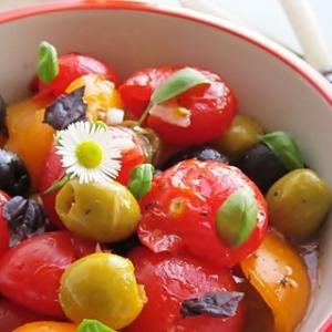Оливки - Расплющенный салат