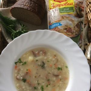 Картофель - Рассольник с салакой