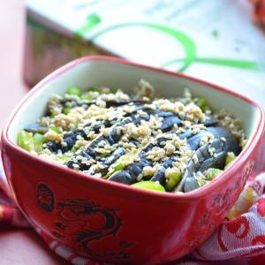 Вегетарианская кухня - Рис с баклажаном