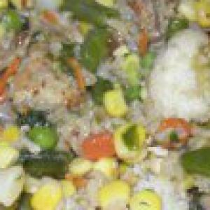 Капуста белокачанная - Рис с курицей и овощами
