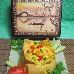 Рецепты вьетнамской кухни - Рис с овощами и креветками