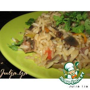 Желудки - Рис с овощами и желудочками