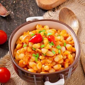 Кукуруза - Рис с овощами в соусе