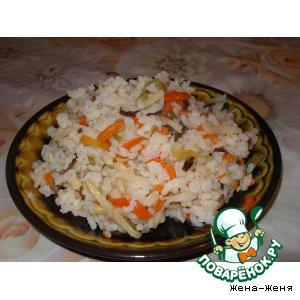 Капуста белокачанная - Рис с овощами